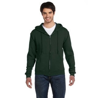 Men's Big and Tall Supercotton 70/30 Full-Zip Forest Green Hood