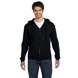 Men's Big and Tall Supercotton 70/30 Full-Zip Black Hood