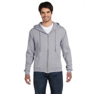 Men's Big and Tall Supercotton 70/30 Full-Zip Athletic Heather Hood