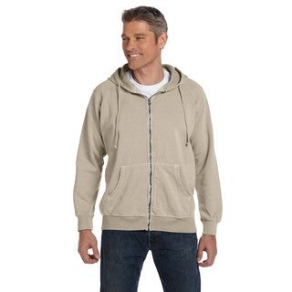 Men's Big and Tall Garment-Dyed Full-Zip Sandstone Hood