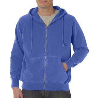 Men's Big and Tall Garment-Dyed Full-Zip Flo Blue Pgmdye Hood