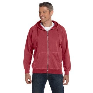 Men's Big and Tall Garment-Dyed Full-Zip Crimson Hood