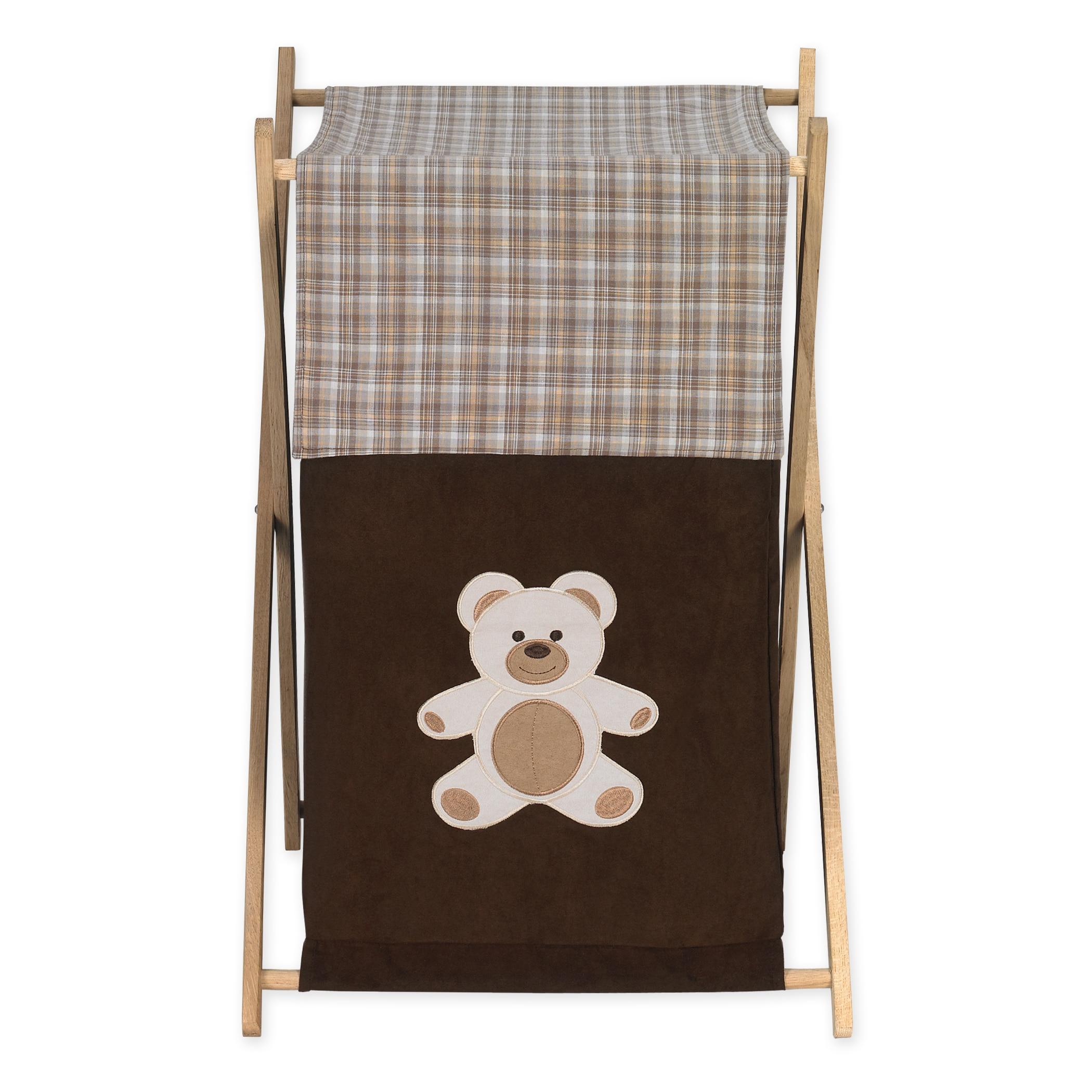 JoJo Designs Chocolate Teddy Bear Collection Brown Fabric...