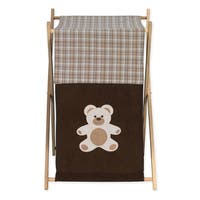 Sweet Jojo Designs Chocolate Teddy Bear Collection Brown Fabric/Wood Laundry Hamper