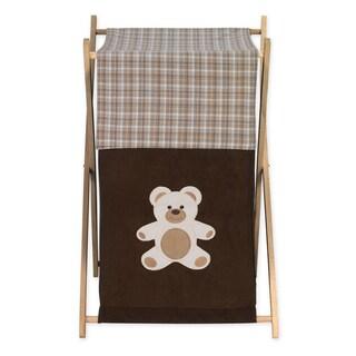 Sweet Jojo Designs Chocolate Teddy Bear Collection Brown Fabric/Wood Laundry Hamper