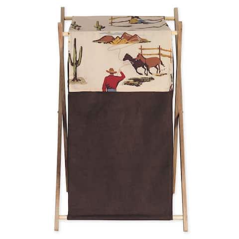 Sweet JoJo Designs Wild West Collection Wood/Fabric Laundry Hamper