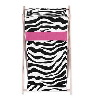 Sweet Jojo Designs Pink Funky Zebra Collection Laundry Hamper