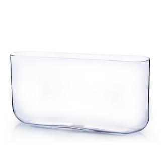8-inch x 3-inch x 16-inch  Clear Rectangular Vase