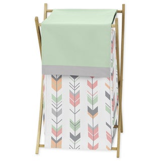 Sweet Jojo Designs Laundry Hamper for the Coral and Mint Mod Arrow Collection