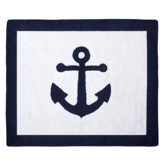 Sweet Jojo Designs Anchors Away Collection Floor Rug