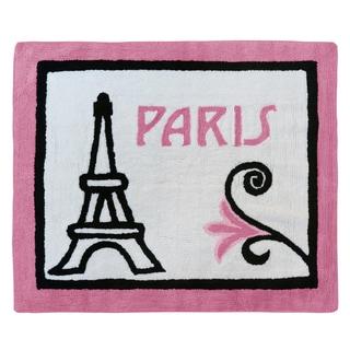 Sweet Jojo Designs Paris Collection Multicolor Cotton Hand-tufted Floor Rug (2'6 x 3')