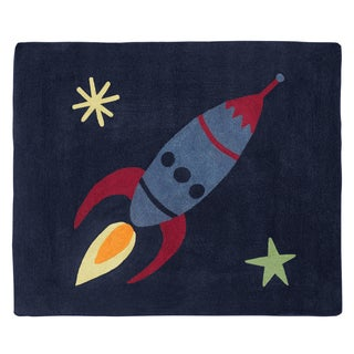Sweet Jojo Designs Space Galaxy Collection Floor Rug