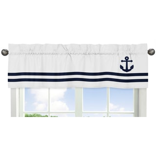 Sweet Jojo Designs Anchors Away Collection Window Curtain Valance