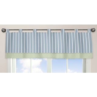 Sweet Jojo Designs Blue and Green Argyle Collection Window Curtain Valance