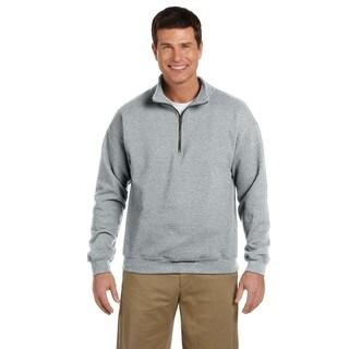 Men's Vintage Classic Quarter-Zip Cadet Collar Sport Grey Sweatshirt