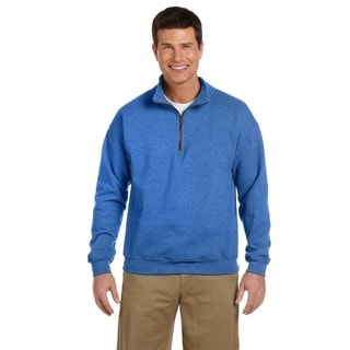 Men's Vintage Classic Quarter-Zip Cadet Collar Royal Sweatshirt (XL)