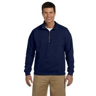 Men's Vintage Classic Quarter-Zip Cadet Collar Navy Sweatshirt (XL)