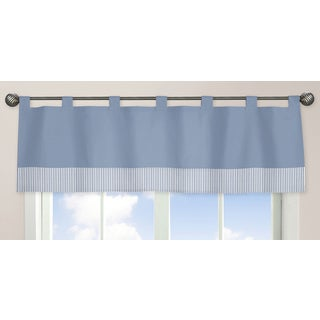 Sweet Jojo Designs Come Sail Away Collection Blue Fabric 15-inch x 84-inch Window Curtain Valance