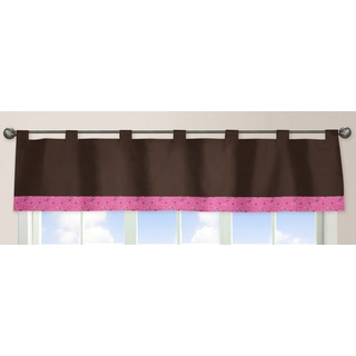 Sweet Jojo Designs Cowgirl Collection Pink/Brown Fabric Window Curtain Valance
