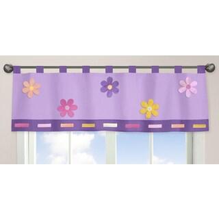 Sweet Jojo Designs Danielle's Daisies Collection Tab-top Window Curtain Valance