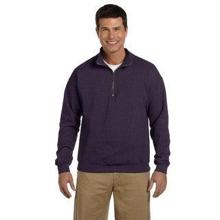 Men's Vintage Classic Quarter-Zip Cadet Collar Blackberry Sweatshirt (XL)