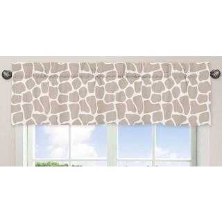 Sweet Jojo Designs Giraffe Collection Window Curtain Valance