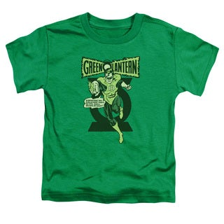 Green Lantern/Retro Oath Short Sleeve Toddler Tee in Kelly Green