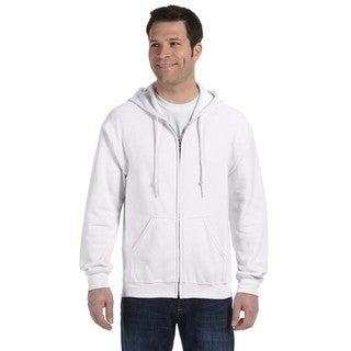 50/50 Men's Full-Zip White Hood (XL)