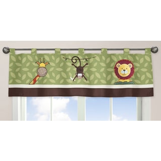Sweet Jojo Designs Jungle Time Collection Multicolored Fabric Window Curtain Valance