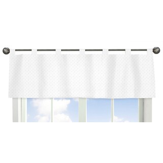 Sweet Jojo Designs Minky Dot Collection White Window Curtain Valance