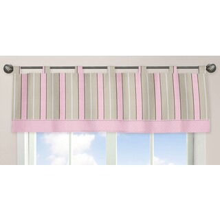 Sweet Jojo Designs Pink and Chocolate Mod Dots Collection Window Curtain Valance