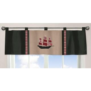 Sweet Jojo Designs Pirate Treasure Cove Collection Window Curtain Valance