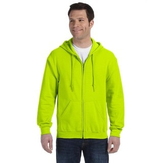 50/50 Men's Full-Zip Safety Green Hood