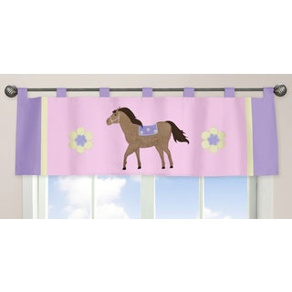 Sweet Jojo Designs Pretty Pony Collection Multicolored Fabric Window Curtain Valance