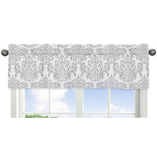 Sweet JoJo Designs Skylar Collection Fabric Damask-print Window Curtain Valance