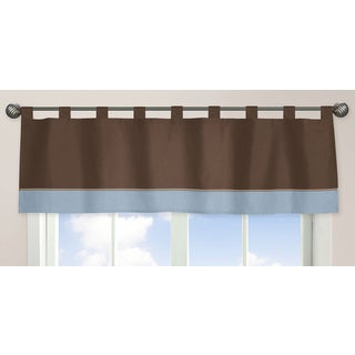 Sweet Jojo Designs Soho Blue and Brown Collection Window Curtain Valance