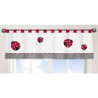 Sweet Jojo Designs Polka Dot Ladybug Collection Window Curtain Valance