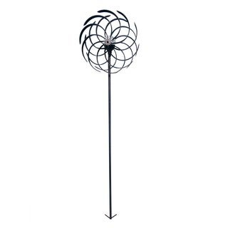 """Solar 68"""" Dual Kinetic Windmill Stake with LED Light"""