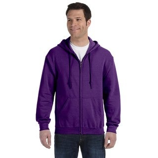 50/50 Men's Full-Zip Purple Hood
