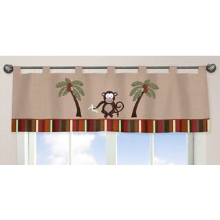 Sweet Jojo Designs Monkey Time Collection Window Curtain Valance