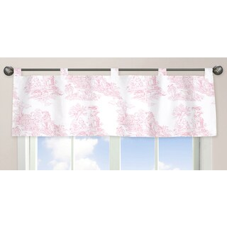 Sweet Jojo Designs Pink French Toile Collection Window Curtain Valance