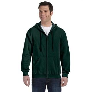 50/50 Men's Full-Zip Forest Green Hood (XL)