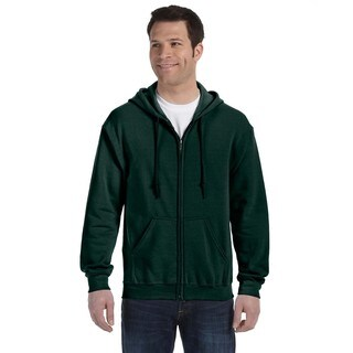 50/50 Men's Full-Zip Forest Green Hood