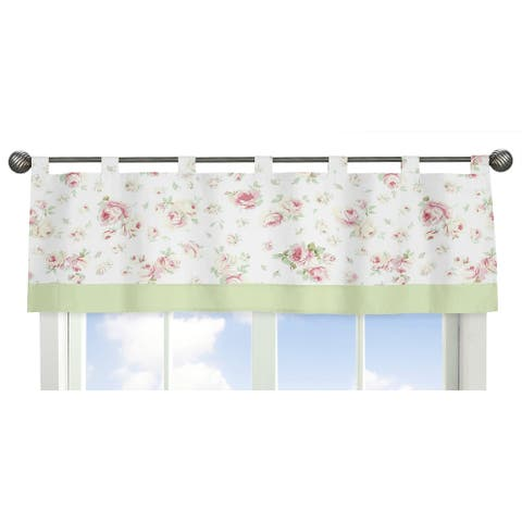 Sweet Jojo Designs Riley's Roses Collection Window Curtain Valance