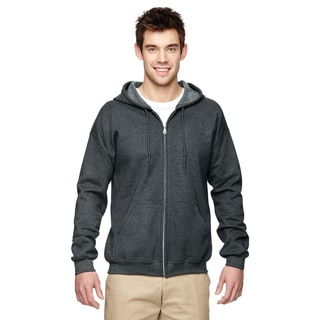 50/50 Men's Full-Zip Dark Heather Hood(S)