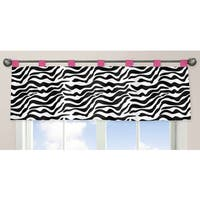 Sweet Jojo Designs Pink Funky Zebra Collection Window Curtain Valance