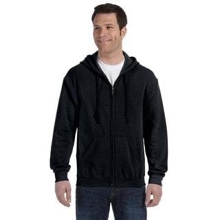 50/50 Men's Full-Zip Black Hood