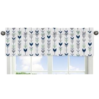 Sweet Jojo Designs Grey and Mint Mod Arrow Collection Window Curtain Valance