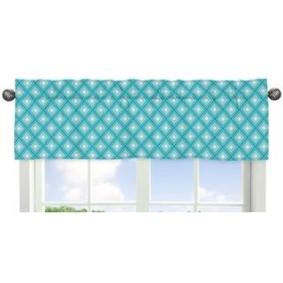 Sweet Jojo Designs Mod Elephant Collection Fabric Window Curtain Valance