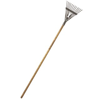 Flexrake CLA102 48-inch Handle 8-inch Classic Shrub Rake